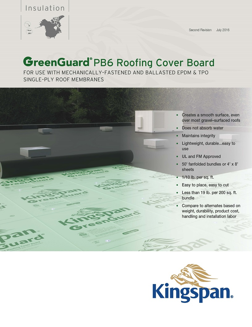 GreenGuard PB6 Roofing Cover Board_Product Sheet_US_CA_IMG