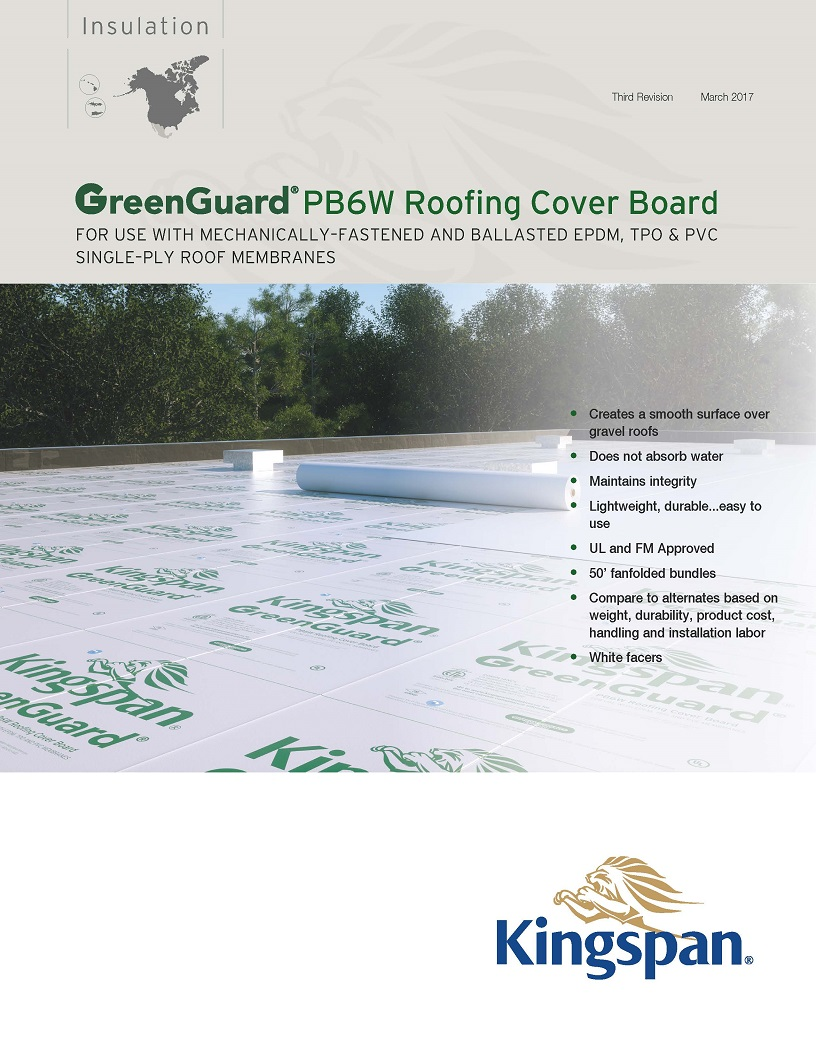 GreenGuard PB6W Roofing Cover Board_Product Sheet_US_CA_1704_IMG