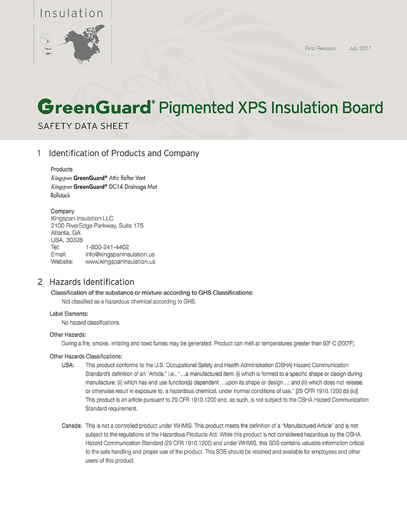 GreenGuard Pigmented XPS Insulation Board_Safety Data Sheet_US_CA_1707_IMG