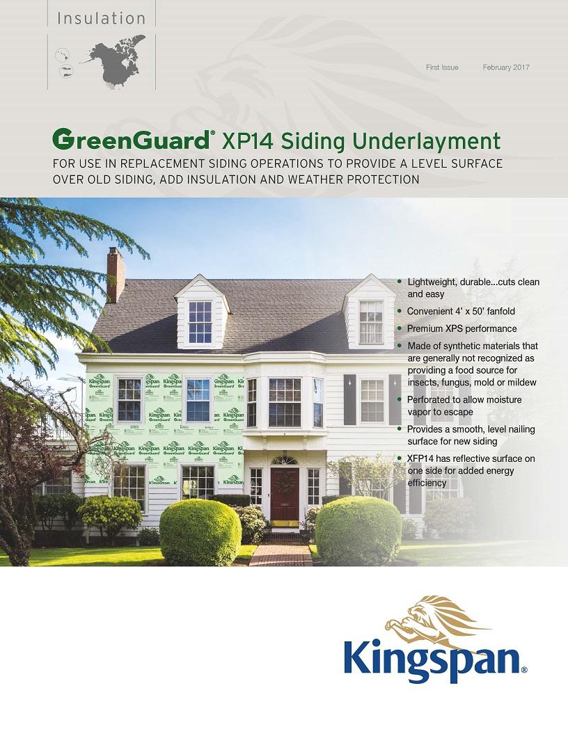 GreenGuard XP14 Siding Underlayment_Product Sheet_US_CA_IMG