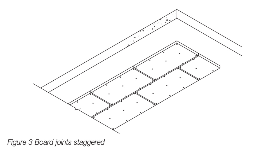 Kooltherm K10 White Installation Diagram_Joints Staggered