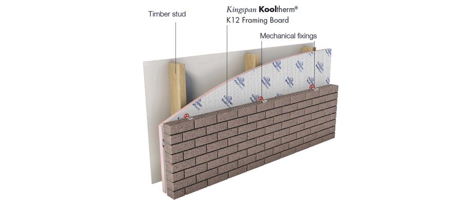 Kooltherm K12 R Value_Brick Veneer External Frame