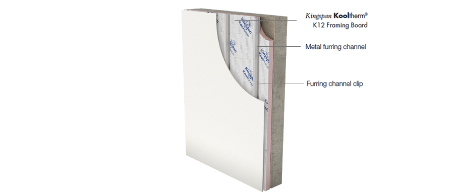 Kooltherm K12 R Value_Concrete_Block Wall