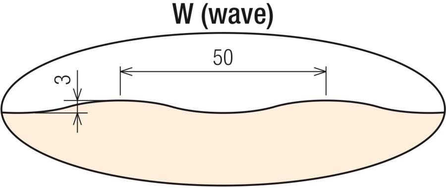 W (wave) vonkajší