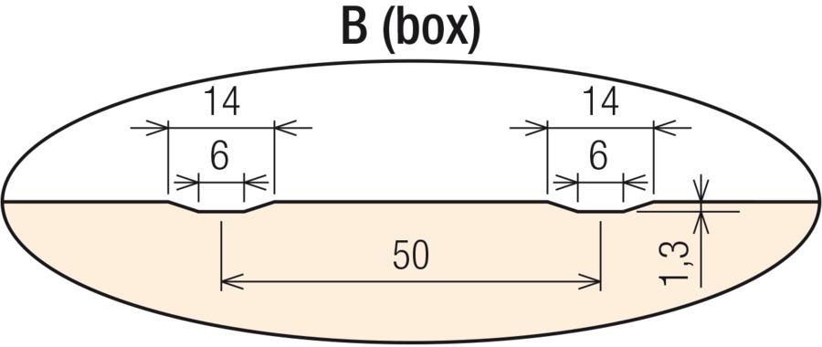 B (box) vonkajší