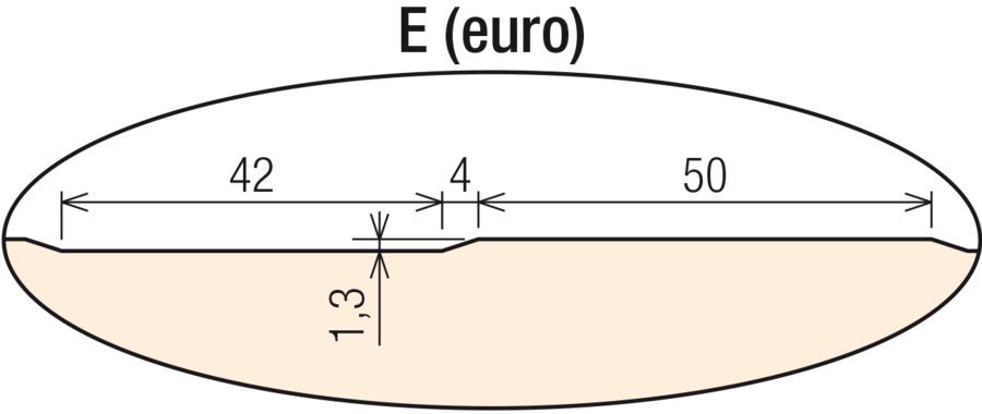 E (euro) vonkajší