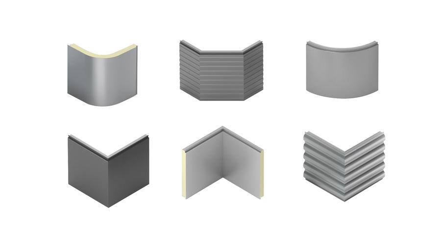 rohové panely, prefabrikované panely