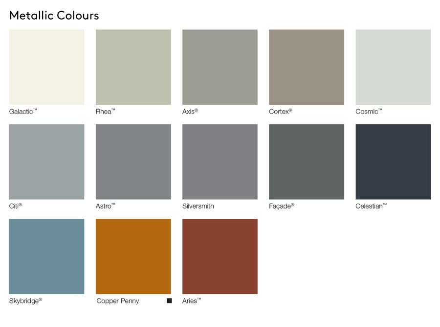 AUS Metallic Colours