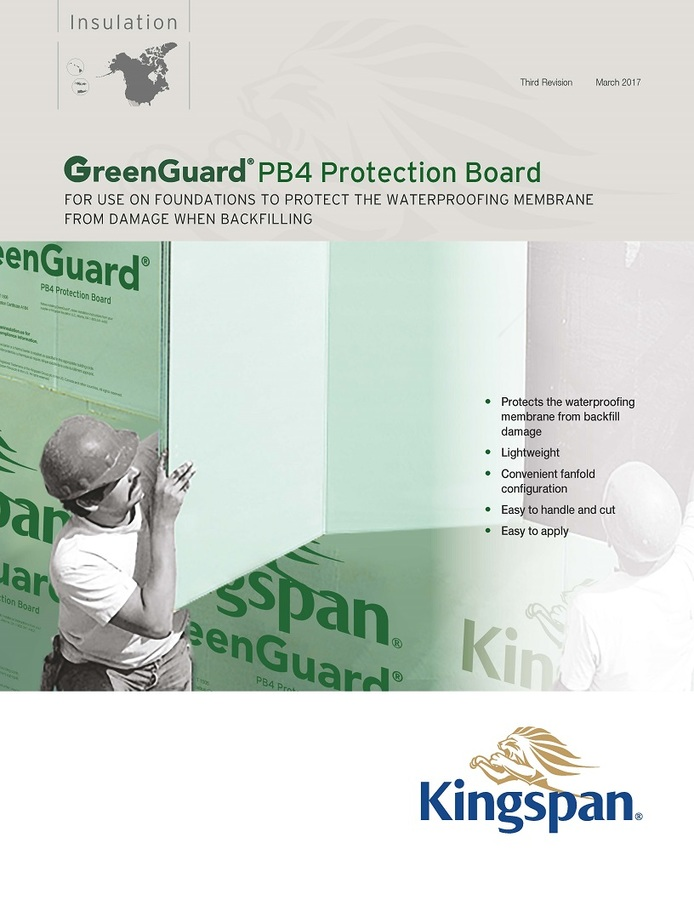 GreenGuard PB4 Protection Board Product Sheet