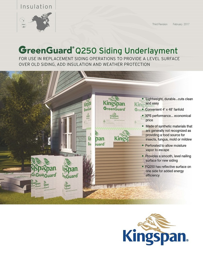 GreenGuard Q250 Siding Underlayment_Product Sheet_US_CA_IMG