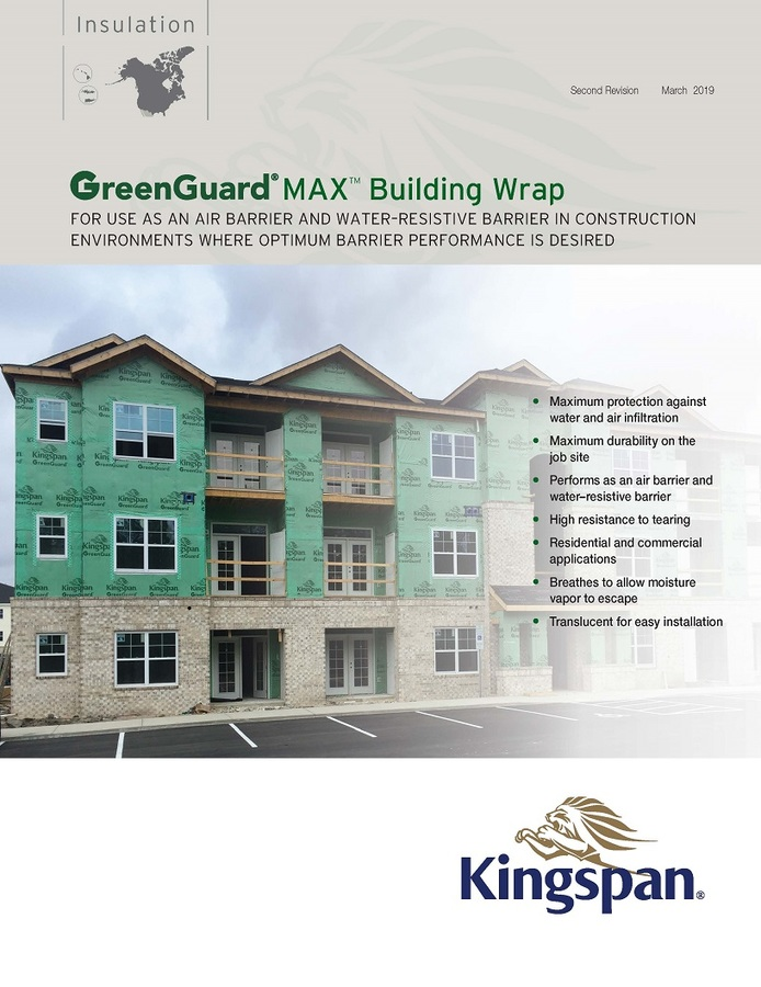 GreenGuard MAX Building Wrap_Product Sheet_US_CA_IMG