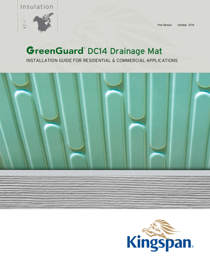 GreenGuard DC14 Drainage Mat Standard Installation Guide