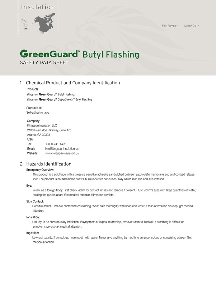 Kingspan Green Guard  Flashing 4/""