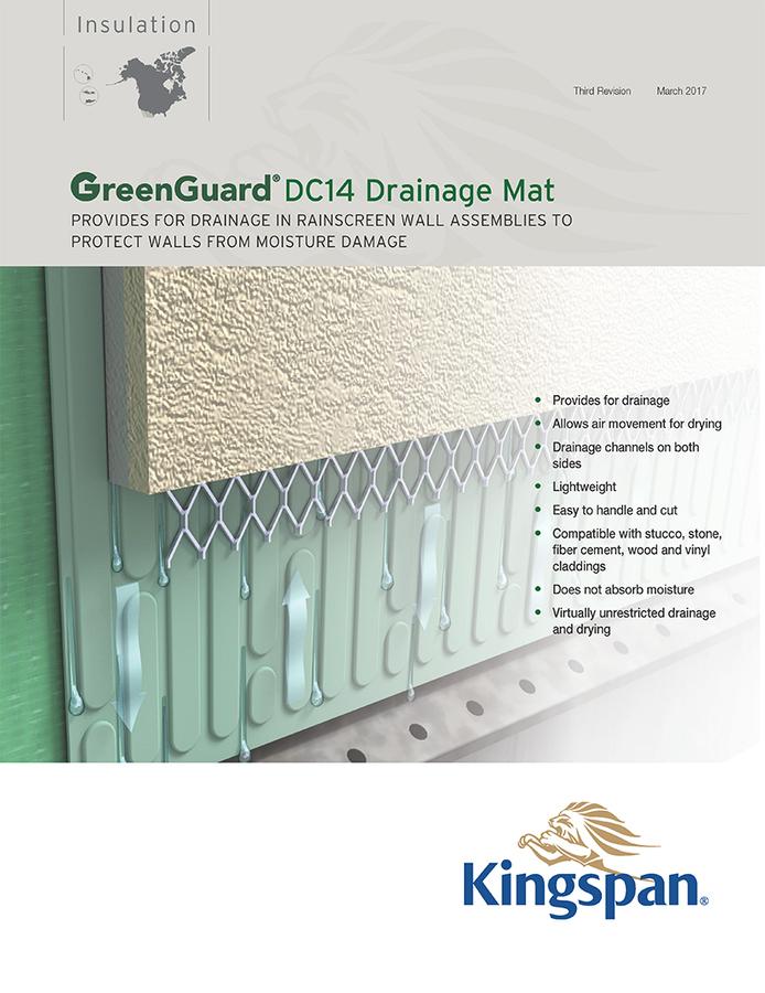 GreenGuard DC14 Drainage Mat