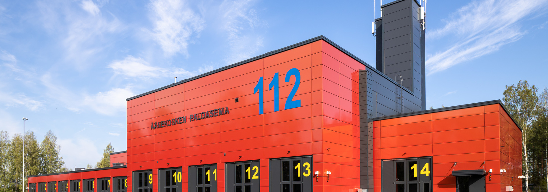 Evolution panels, modular facade, finland, fire station design