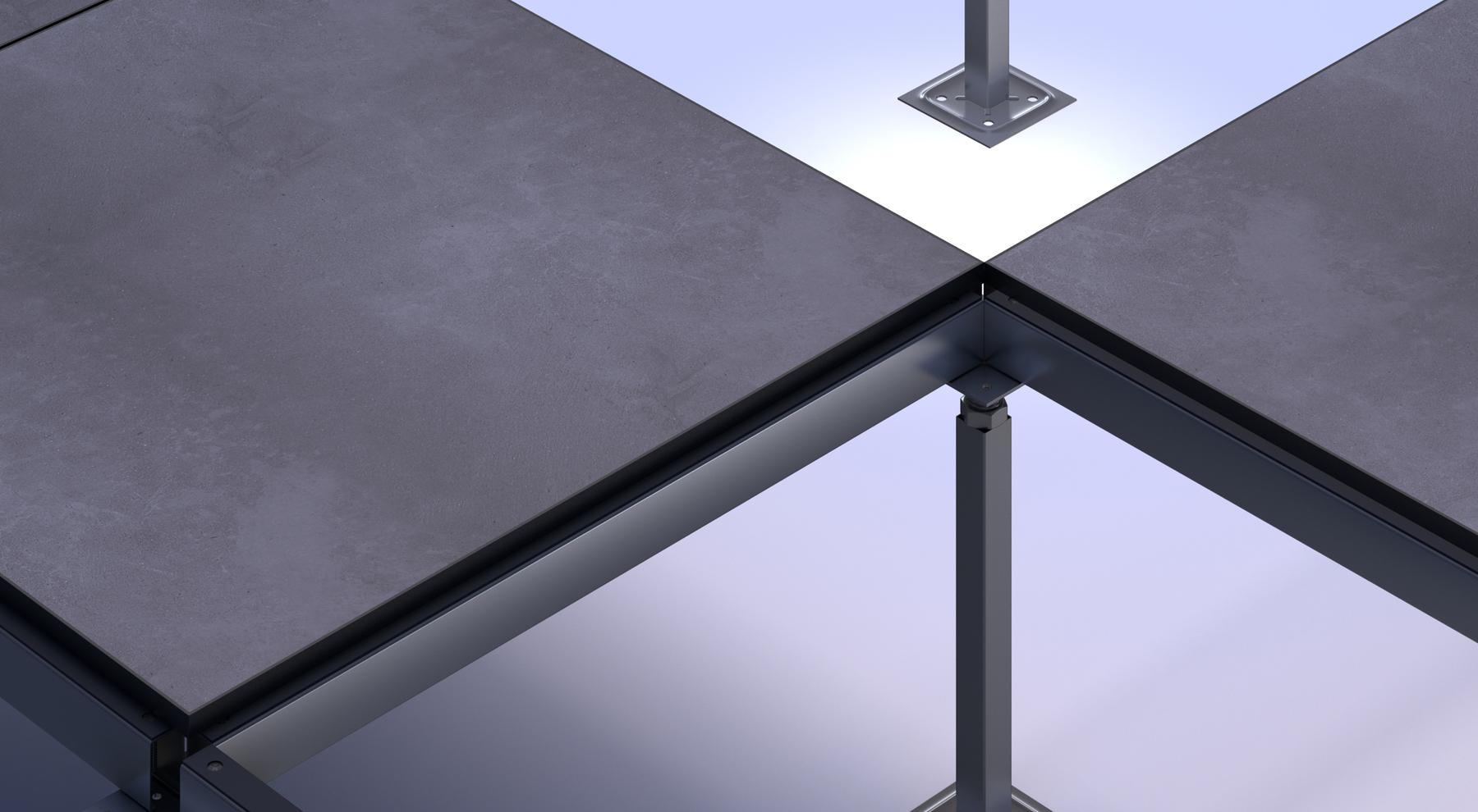 Tate 2/'x2/' Concrete Filled Raised Access HPL Gray Starlight Floor Tiles