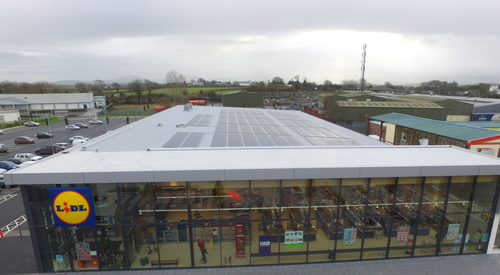 Kingspan Insulated Panel Systems Rooftop Solar PV Energy RW Trapezoidal Roof Lidl Nenagh IE Image