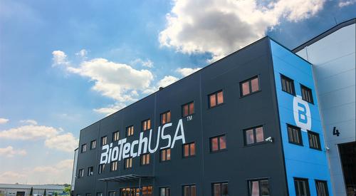 A BioTech USA csodás kék, szendvicspanelből készült épülete