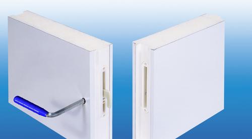Panneaux de chambre froide avec système de serrure à crochet