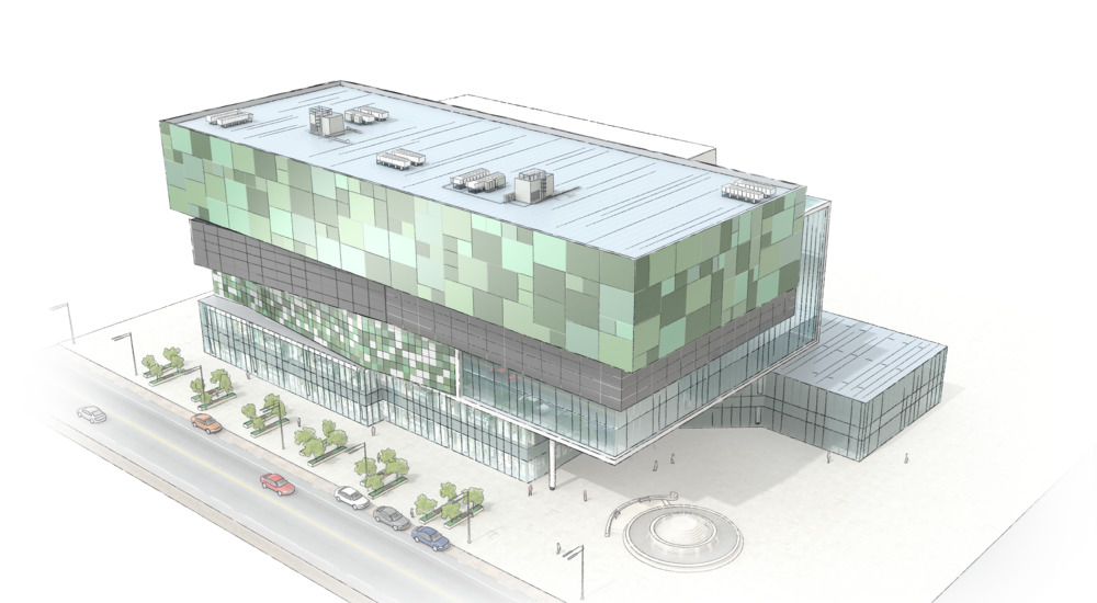 Retail sector building