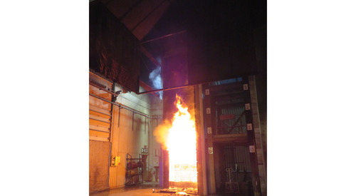 Kingspan Architectural Facades Systems Fire Test Image