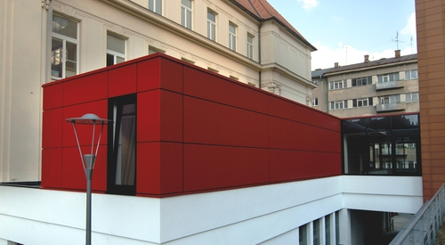Kingspan Architectural Facades Systems Red Building Image