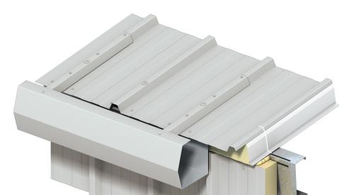 KS1000 RW, trapézový profil, napojení okapního systému, zateplení střech, střešní panel, izolační panel