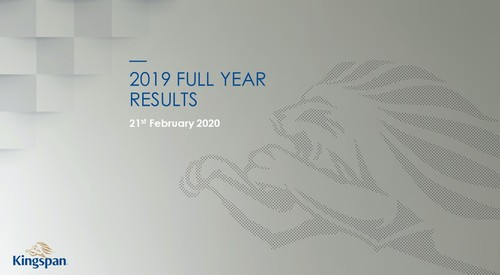 Kingspan Full Year Results 2019 Image with Text