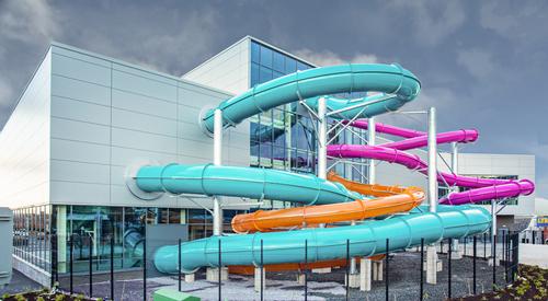 Brook Leisure Centre, Quadcore Evolution Facade