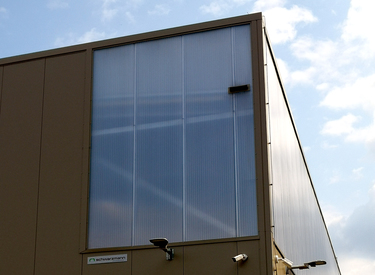 Wall-Lite panels on a warehouse