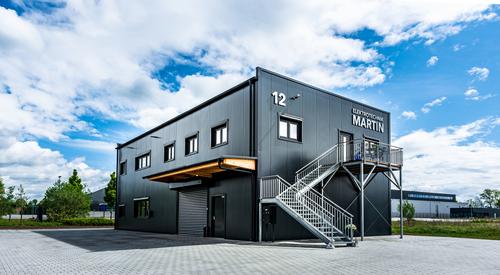 Sandwichpaneele Dach und Wand Lagerhalle Verwaltungsbereich in Immenstaad