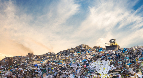 Image of staggering amount of landfill waste