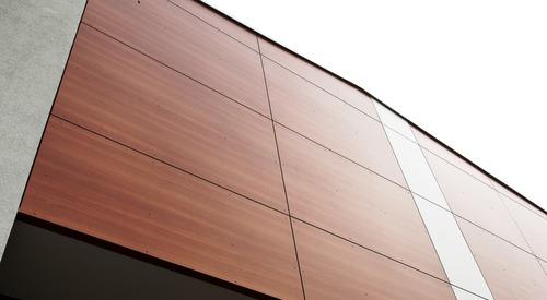 Rainscreen facade, Suspended ventilated facade, Benchmark Kingspan, Benchmark Karrier (HPL), KS1000 AWP