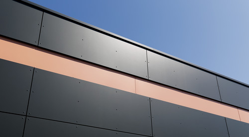 Rainscreen facade, Suspended ventilated facade, Benchmark Kingspan, Benchmark Karrier (HPL)