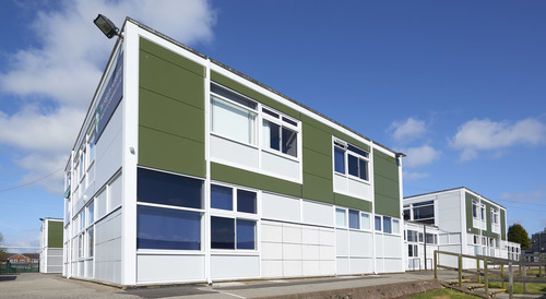Kingspan Insulated Panel Systems Project - HOLGATE ACADEMY NOTTINGHAM UK.