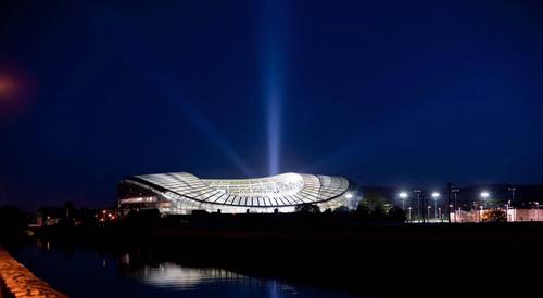 Aviva Stadium Night far away