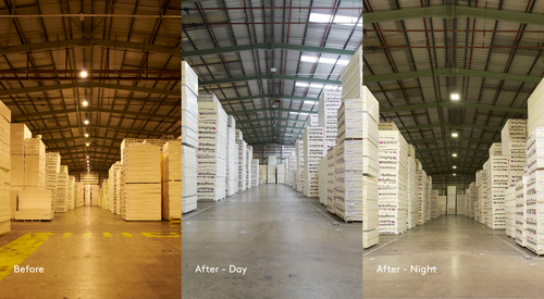 Kingspan Insulated Panel Systems Project ZEL Selby Before and After Image