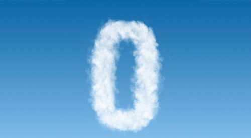 zero in cloud shape