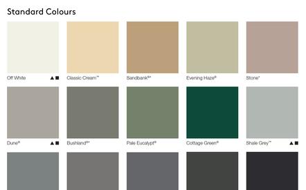 AUS Standard Colours