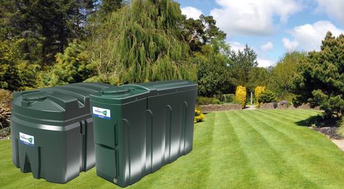 garden with oil tanks - case study hero