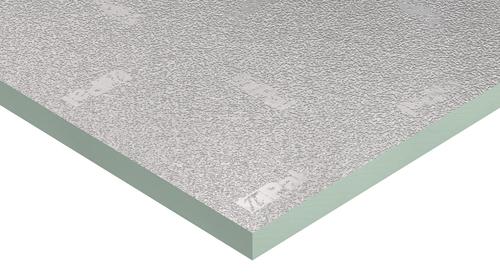 Panel PIR PalDuct de Kingspan con un revestimiento de aluminio.