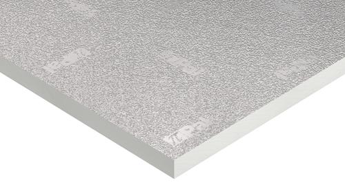 Panel Hidro de Kingspan con un revestimiento de aluminio en relieve.