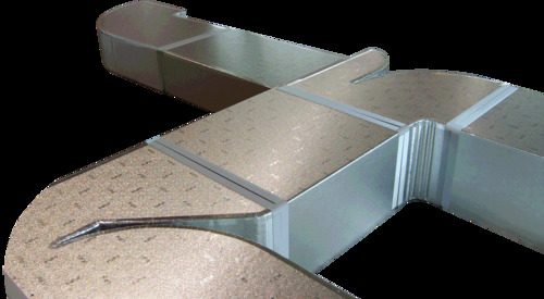 El sistema PIR de Kingspan PalDuct es versátil y puede ser utilizado y fabricado para todas las secciones de ductos HVAC.