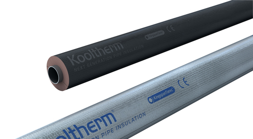 Kooltherm black and silver  pipes