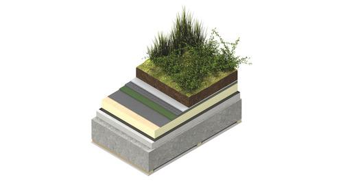 TR27 Green Roof Concrete Deck
