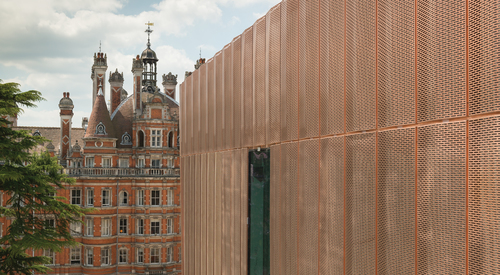 Kingspan Architectural Facades Systems Copper Project -Royal Holloway London Image