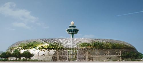 Jewel Changi Airport glass dome facade