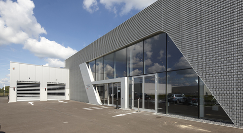 Rainscreen facade, Suspended ventilated facade, Benchmark Kingspan, Benchmark Karrier (Mesh), KS1000 AWP