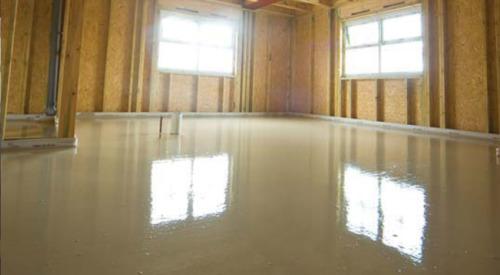 Concrete floor screed