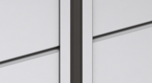 Inline Black - 20mm vertical joint with omega-shaped, powder-coated alu profile and push-in EPDM gasket